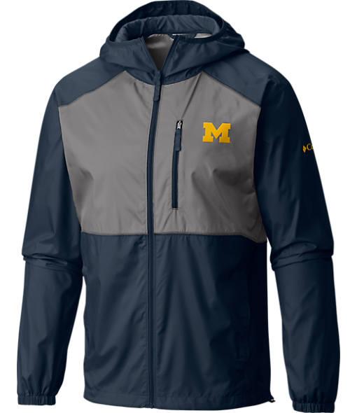 Men's Columbia Michigan Wolverines College Flash Forward Windbreaker Jacket