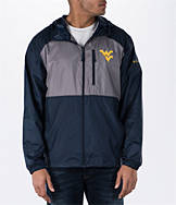 Men's Columbia West Virginia Mountaineers College Flash Forward Windbreaker Jacket