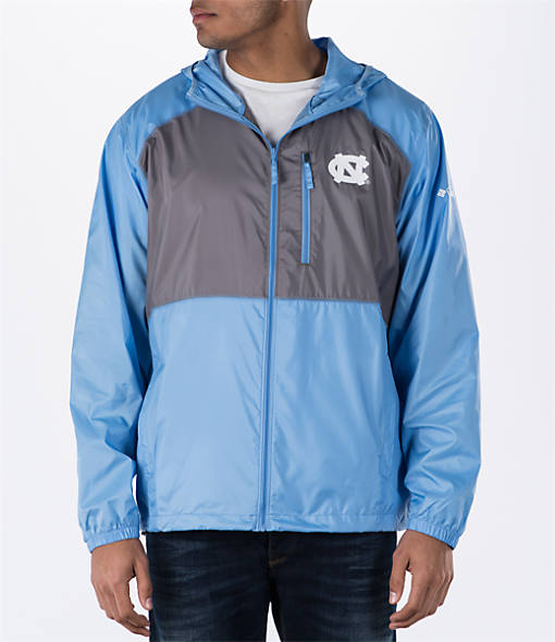 Men's Columbia UNC Tar Heels College Flash Forward Windbreaker Jacket