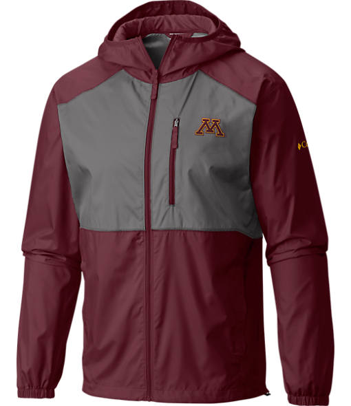 Men's Columbia Minnesota Golden Gophers College Flash Forward Windbreaker Jacket