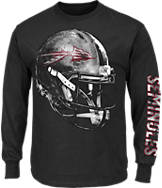 Men's Majestic Florida State Seminoles College Reflective Long-Sleeve T-Shirt