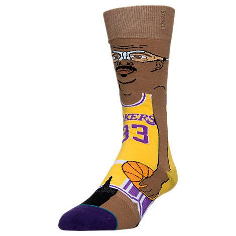 Stance LA Lakers Kareem Abdul-Jabbar NBA Cartoon Socks