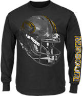 Men's Majestic Missouri Tigers College Reflective Long-Sleeve T-Shirt