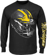 Men's Majestic Michigan Wolverines College Reflective Long-Sleeve T-Shirt