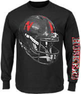 Men's Majestic Nebraska Cornhuskers College Reflective Long-Sleeve T-Shirt