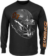 Men's Majestic Oklahoma State Cowboys College Reflective Long-Sleeve T-Shirt