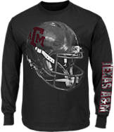 Men's Majestic Texas A & M Aggies College Reflective Long-Sleeve T-Shirt