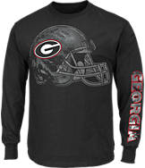 Men's Majestic Georgia Bulldogs College Reflective Long-Sleeve T-Shirt