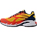 Left view of Men's Diadora M.Shindano Plus 2 Running Shoes in Orange/Gold/Navy/White