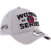 Front view of New Era Cleveland Indians MLB 2016 League Championship Hat in Grey