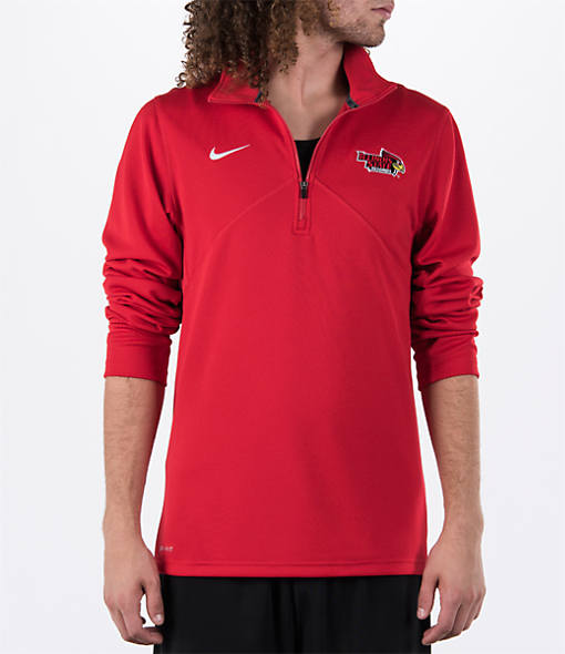 Men's Nike Illinois State Redbirds College Dri-FIT Quarter-Zip Training Shirt