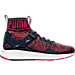 Right view of Women's Puma Ignite 3 EVOknit Casual Shoes in Peacoat/Sparkling Cosmo/Orange