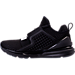 Left view of Boys' Grade School Puma Ignite Limitless Casual Shoes in Black/Black