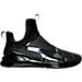 Right view of Women's Puma Fierce KRM Training Shoes in Puma Black-Dark Shadow