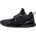 Left view of Men's Puma Ignite Limitless Knit Casual Shoes in Black/Black/Puma White