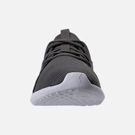 Front view of Men's Puma Carson 2 Casual Shoes in Quiet Shade/Puma Black