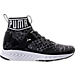 Right view of Boys' Grade School Puma Ignite 2 Evoknit Casual Athletic Shoes in Black/White