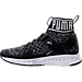Left view of Boys' Grade School Puma Ignite 2 Evoknit Casual Athletic Shoes in Black/White