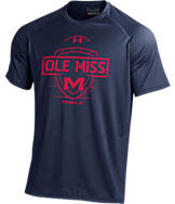 Men's Under Armour Mississippi Rebels College Shield T-Shirt