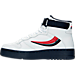 Left view of Men's Fila FX-100 Casual Shoes in White/Red/Navy