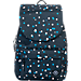 Front view of Parkland The Rushmore Backpack in Black Polka Drops
