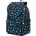 Back view of Parkland The Rushmore Backpack in Black Polka Drops