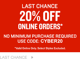 Last Chance. 20% Off Online Orders.