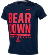 Kids' Nike Arizona Wildcats College Legend Wordmark T-Shirt