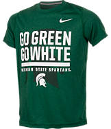 Kids' Nike Michigan State Spartans College Legend Wordmark T-Shirt