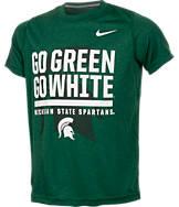 Kids' Nike Michigan State Spartans College Legend Wordmark T-Shirt