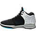 Left view of Men's BrandBlack J. Crossover 2 Basketball Shoes in Black/Silver