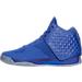Left view of Men's BrandBlack J. Crossover 3 Basketball Shoes in Blue