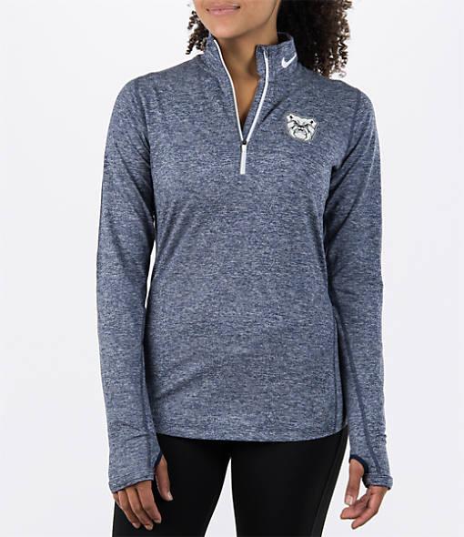 Women's Nike Bowling Green Falcons College Heather Element Quarter-Zip Shirt