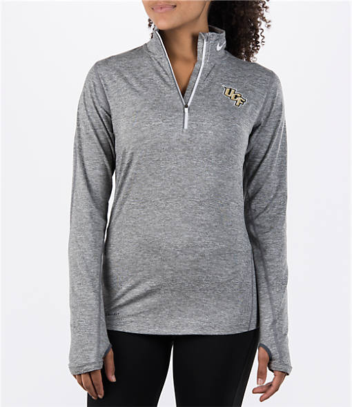 Women's Nike Central Florida Knights College Heather Element Quarter-Zip Shirt