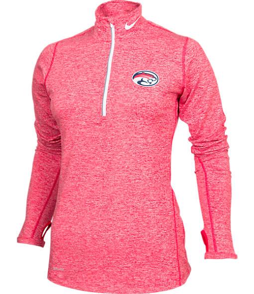 Women's Nike Houston Cougars College Heather Element Quarter-Zip Shirt