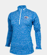 Women's Nike Memphis Tigers College Heather Element Quarter-Zip Shirt
