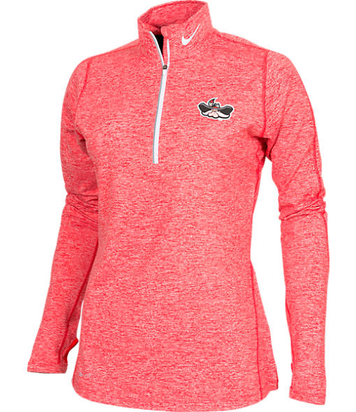 Women's Nike UNLV Runnin' Rebels College Heather Element Quarter-Zip Shirt