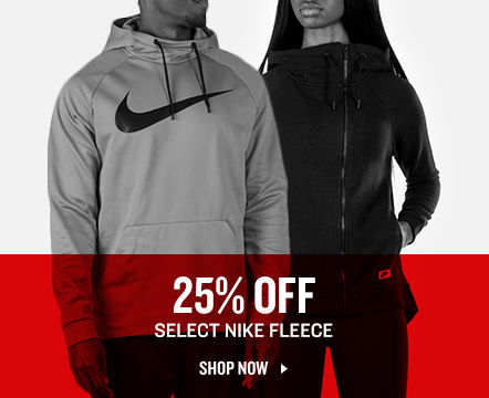 Select Nike Fleece 25% Off.