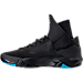 Left view of Men's BrandBlack Future Legend Basketball Shoes in Black