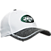 Front view of New Era New York Jets NFL Training Camp 39THIRTY Flex Fit Hat in White/Team Colors