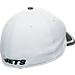 Back view of New Era New York Jets NFL Training Camp 39THIRTY Flex Fit Hat in White/Team Colors