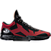 Right view of Men's BrandBlack Rare Metal Lightning Basketball Shoes in Black/Red