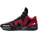 Left view of Men's BrandBlack Rare Metal Lightning Basketball Shoes in Black/Red