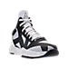 Three Quarter view of Men's BrandBlack Rare Metal Lightning Basketball Shoes in White/Black