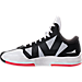 Left view of Men's BrandBlack Rare Metal Lightning Basketball Shoes in White/Black