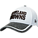 Front view of New Era Cleveland Browns NFL Training Camp 39THIRTY Flex Fit Hat in White/Team Colors
