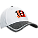 Front view of New Era Cincinnati Bengals NFL Training Camp 39THIRTY Flex Fit Hat in White/Team Colors