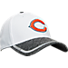 Front view of New Era Chicago Bears NFL Training Camp 39THIRTY Flex Fit Hat in White/Team Colors