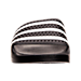 Front view of Men's adidas Adilette Slide Sandals in Black/White