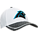 Front view of New Era Carolina Panthers NFL Training Camp 39THIRTY Flex Fit Hat in White/Team Colors